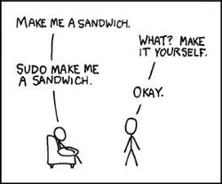 Sandwich - sudo shell command - funny