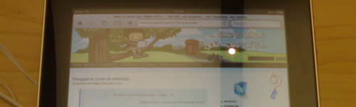 Il blog di Emanuele su iPad - header