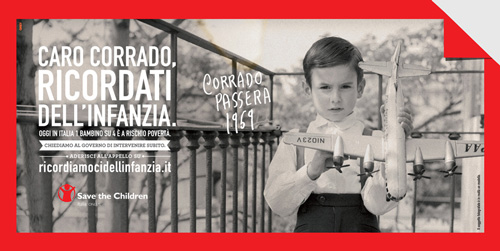 "Save the Children - Campagna: ""Ricordati dell'infanzia"""