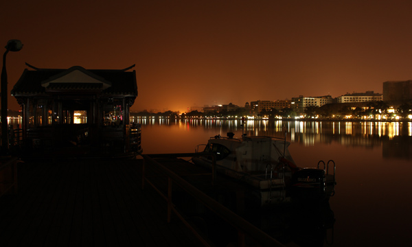 Hanghzou - West lake notturno