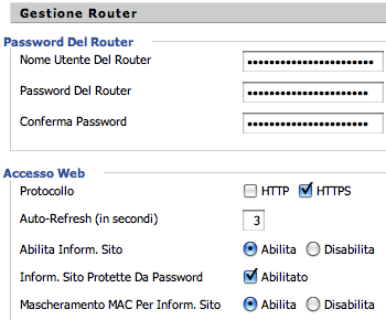 DD-WRT - Modifica password