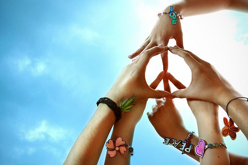 Peace & love hands