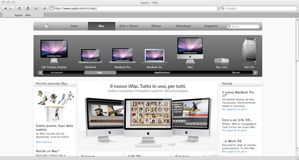 Apple - Mac website