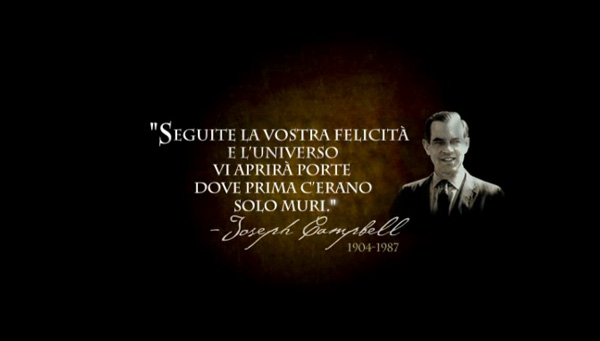 Frase di Joseph Campbell tratta dal film The Secret