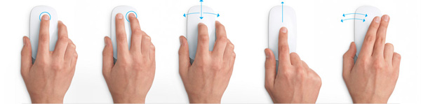 Apple Magic Mouse - gesture