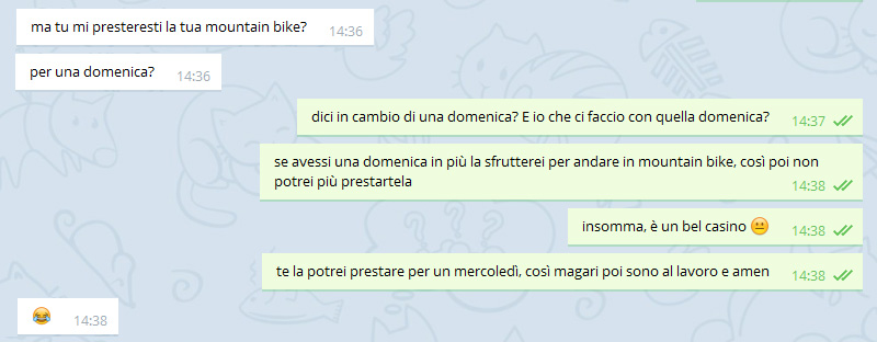 Prestare la mountain bike