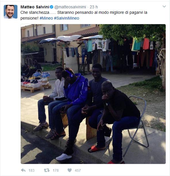 Salvini critica gli immigrati