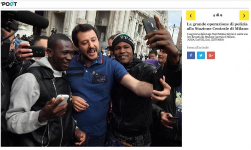 Salvini abbraccia gli immigrati
